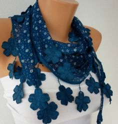 Teal Scarf  -by fatwoman, $13.50