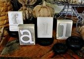 Trash to Treasure: DIY Wood Block Letters - Thistlewood Farm // using chipboard letters.  Genious, right?