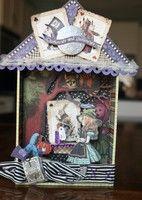 Alice in Wonderland Shadow Box  susanscrapbooker.blogspot.com