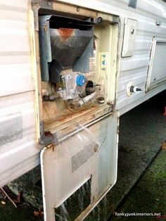 Draining the rv hot water tank / How to winterize an rv by blowing out the lines. No messy antifreeze in your drinking water! via http://www...