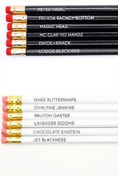 #psych burton guster nickname pencils. i wish they had my fav doughnut holschtein :D