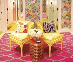 www.eyefordesignlfd.blogspot.com  Lilly Pulitzer Style Interiors..... Palm Beach Chic