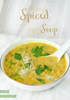 Creamy Spiced Coconut Lentil Soup | Produce On Parade