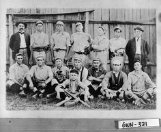 Lawrenceville, 1912. Members of the Lawrenceville baseball team pose for a photograph.