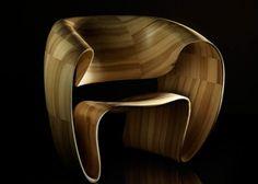 Tom Vaughn's ribbon chair (CNC bits)
