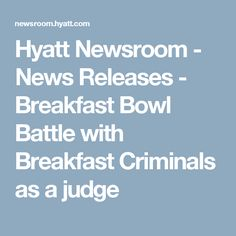 Hyatt Newsroom - New