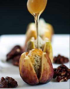 Fresh figs with blue cheese. Now this is more like it! Of course some weird people don't like cheese. . .