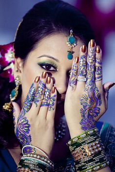 Colored Mehndi....
