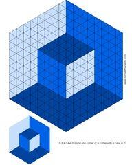 3d illusion afghan block pattern   Illusion crochet afghan idea