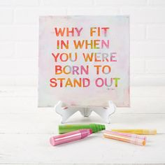Block Word Canvas Art - add a pop of whimsical color to your home decor with an inspirational saying and some acrylic paint.