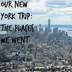 Our New York Trip {The Places We Went}: A great day by day schedule for visiting New York!
