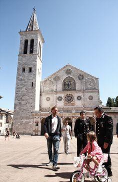 Don Matteo in Piazza Duomo a Spoleto