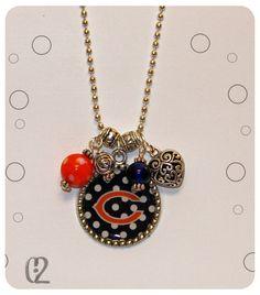 Chicago Bears, Bears, Football, Necklace, Beads - Gift idea for a bears fan