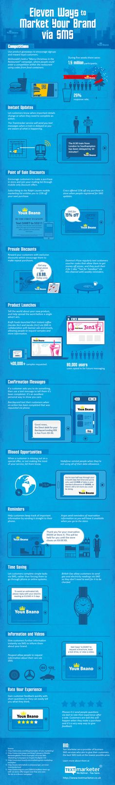 11 Ways to Market Your Brand via SMS #infographic