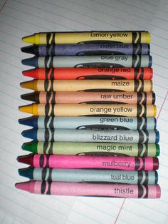 Retired Crayons.