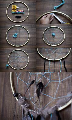 DIY Dream Catcher Jewellery Display Tutorial