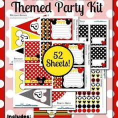 HUGE Mickey Mouse Printables Party Pack - free