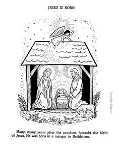 Baby Jesus - Nativity coloring page to print