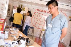 UCLA Health System staff member takes a look in the Food Revolution Big Rig