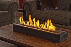 """30"""" Sienna XL Fireplace Reclaimed Elm Modern Fireplace"""