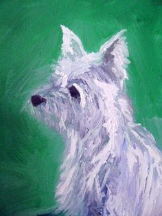 Framed Oil Dog Portrait by theButterDish on Etsy