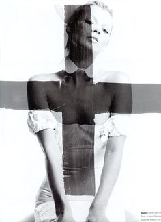 craig mc dean, gucci by tom ford, kate moss vogue, graphic, craig mcdean, art, crosses, fashion photography, black, kate moss, role models