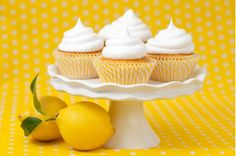 Citrus Cupcakes With Fluffy White Frosting