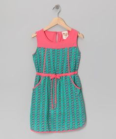 Blue & Pink Retro Dress by Kiddo by Katie