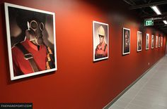 Team Fortress 2 portrait hall in Valve HQ.