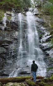 View of Sill Branch Falls in Cherokee National Forest