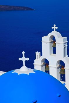Santorini, Greece, Aegean & Greek Churches