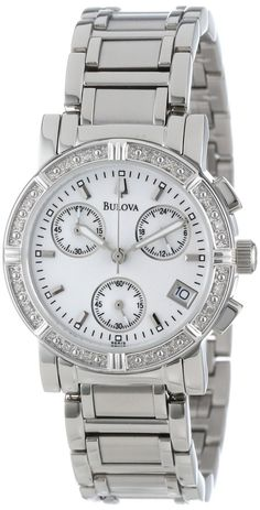 Bulova Women's 96R19 Diamond Chronograph Watch The Perfect Gift Stunning Ladies Watch. Suprisingly well pleased. What an eye catcher. This watch is just beautiful. This is a gorgeous and timeless watch.