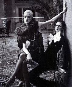 Hannelore Knuts + Stella Tennant Dolce & Gabbana
