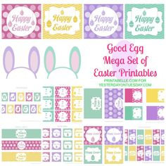 Mega set of FREE Easter printables from our friend @Malia Martine Karlinsky print these our on our full sheet adhesive labels http://www.onlinelabels.com/full-sheet-labels.htm