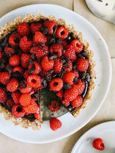 No-bake chocolate-raspberry tart by Ashlae   oh, ladycakes, via Flickr