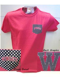 Product: Pink Polkadot Pocket Tee