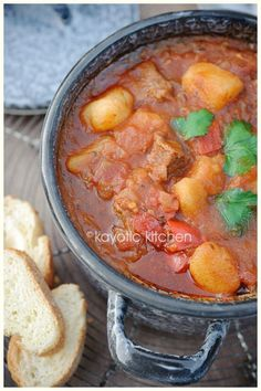 Austrian Goulash Soup: I had this soup the first time when I was 8 in Germany with my family. My mom has made it ever since almost every winter! The caraway seeds give the soup that special taste! :)
