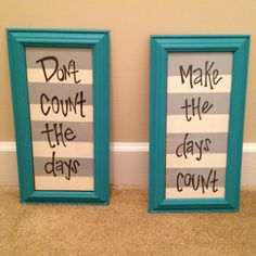 Painted old frames and used this quote for either side of my mirror in the living room