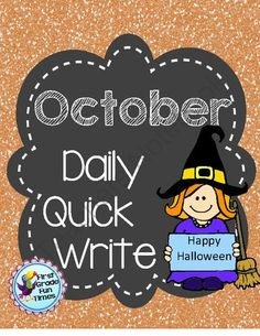 Quick Writes - October from First Grade Fun Times on TeachersNotebook.com -  (18 pages)  - Writing Foldables for Daily Quick Write Activities