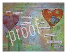 My Heart 8x10 Mixed Media PrintReece's Rainbow by CrayonFreckles, $16.00