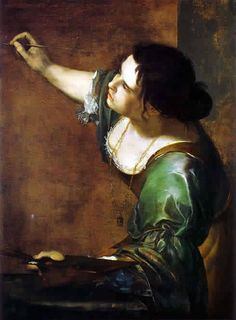 """ARTEMISIA GENTILESCHI (1593, Rome - 1654, Naples)  The eldest child of the Tuscan painter Orazio Gentileschi who introduced her to painting in his workshop. Orazio was a great encouragement to his daughter since, during the 17th century, women were considered not to have the intelligence to work.    Her first work """"Susanna and the Elders"""" shows the sexual assault by the two Elders as a traumatic event. Some months later she was raped by one of her father's assistants. She faced a public trial."""