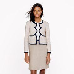 Great scalloped jacket in linen from J.Crew