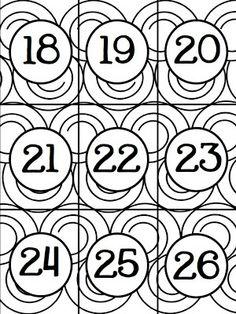 Classroom Freebies: Numbers Cards 0-35
