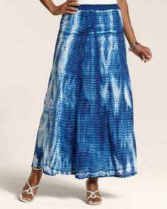 chico's skirts on sale | Tie-Dye Terri Maxi Skirt