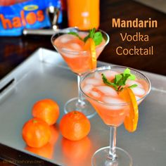 Yummy Mandarin Vodka Cocktail