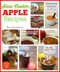 Take advantage of the ripe and juicy apples this season, check out these Slow Cooker Apple recipes.