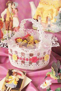 Basket Crochet Pattern - Thread Crochet
