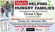 Helping Hungry Families - Buy food, feed families in Cleveland!  The Wave and Marc's partnering up to help the hungry, you can help!  #HelpingHungryFamilies #CLE