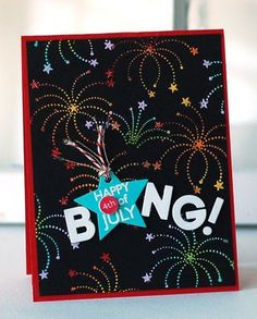 Bang! Card by Betsy Veldman for Papertrey Ink (May 2013)