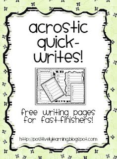 free collection of writing pages!